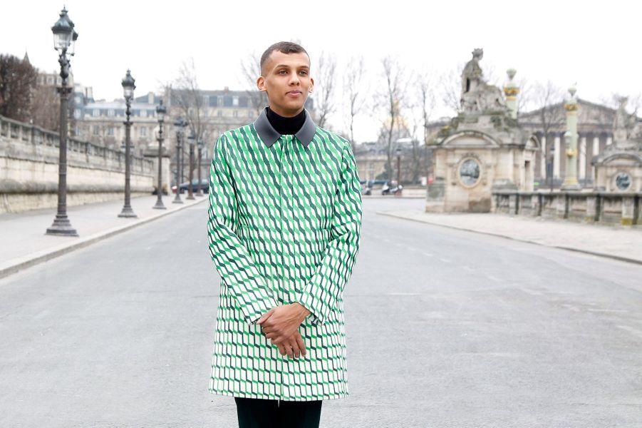 Stromae à la Fashion Week de Paris de mars 2015