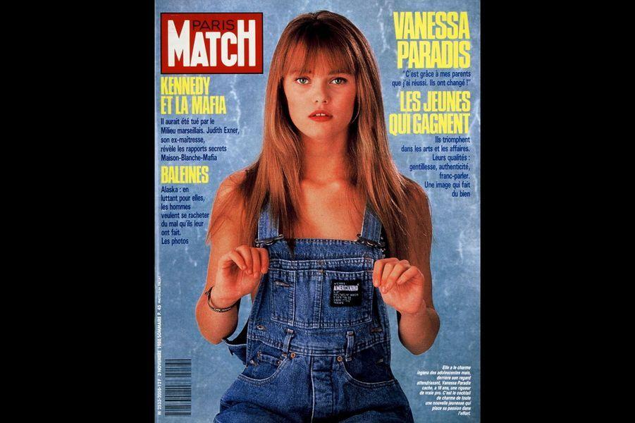 Vanessa Paradis en couverture de Paris Match en novembre 1988