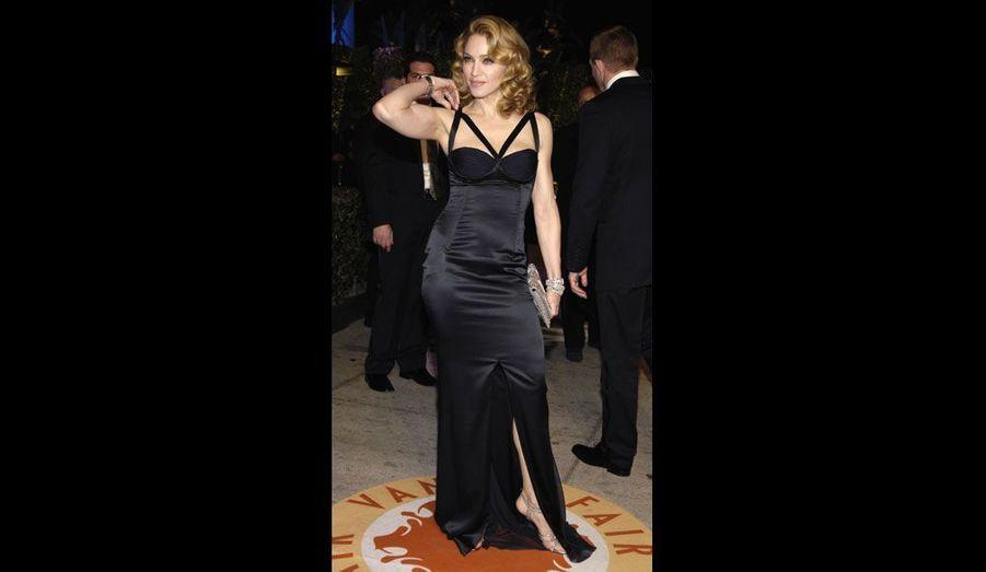 2007, en robe de soirée