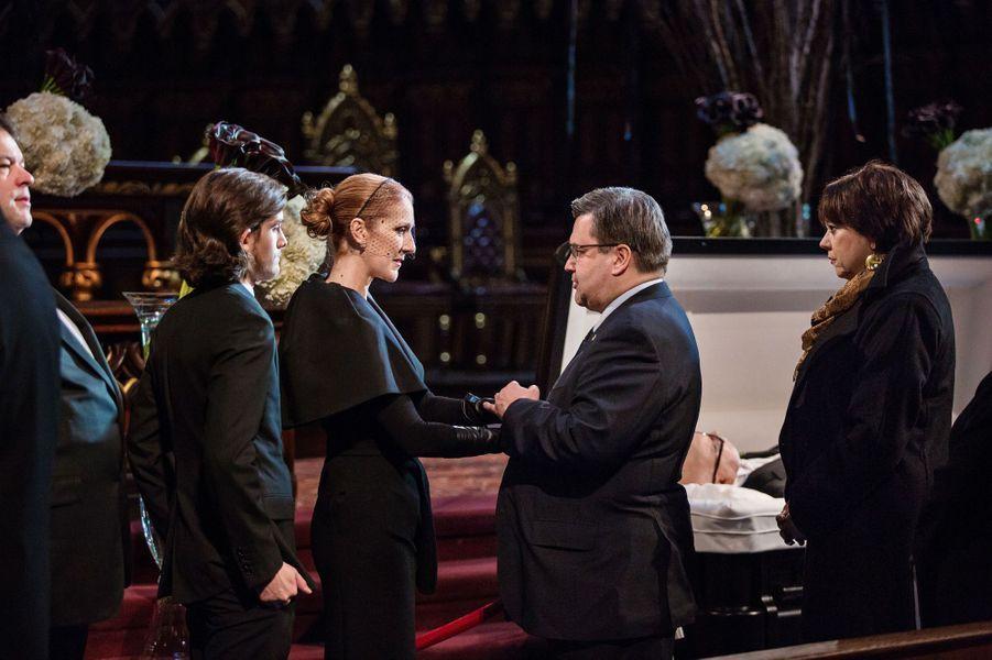 Céline Dion et le maire de Montréal Denis Coderre