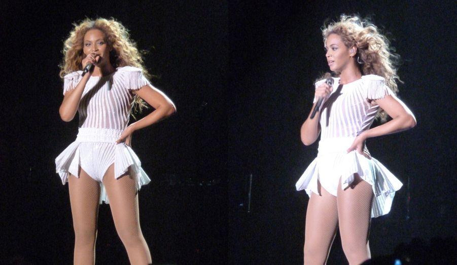 """Mercredi soir, Beyoncé a donné de la voix à Bercy. Pour ses fans, elle a tout misé sur un show digne de la star internationale qu'elle est: enchaînement de costumes, danseurs, figures acrobatiques, flammes et jeux de sons et lumière. Ses plus grands titres ont été interprétés, de """"Run the world"""" à """"Naughty girl"""" en passant par """"Single ladies"""". La reine du R&B a été à la hauteur de sa réputation de """"bête de scène""""."""