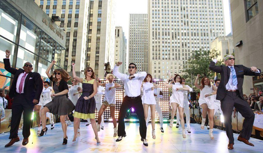 """Ici pour l'émission """"Today"""" de la chaîne américaine NBC, dont le tournage s'était déroulé à New York."""
