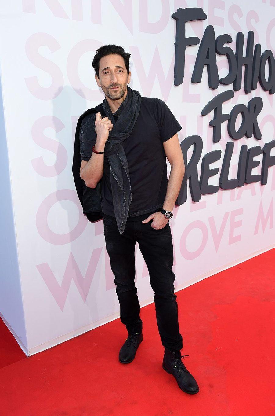 Adrian Brody à la soirée Fashion for Relief.