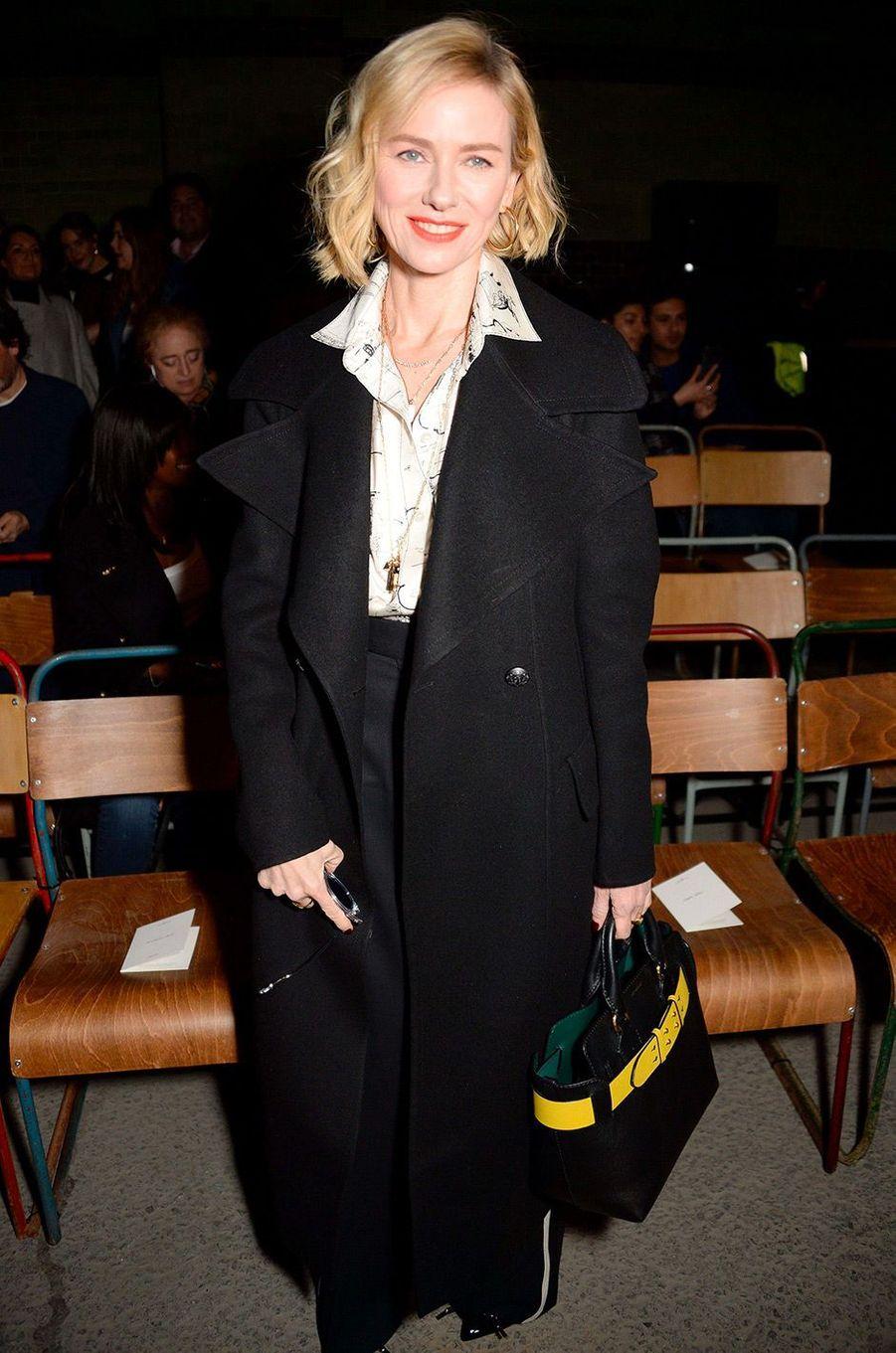 Naomi Watts au défilé Burberry à Londres le 18 février 2018