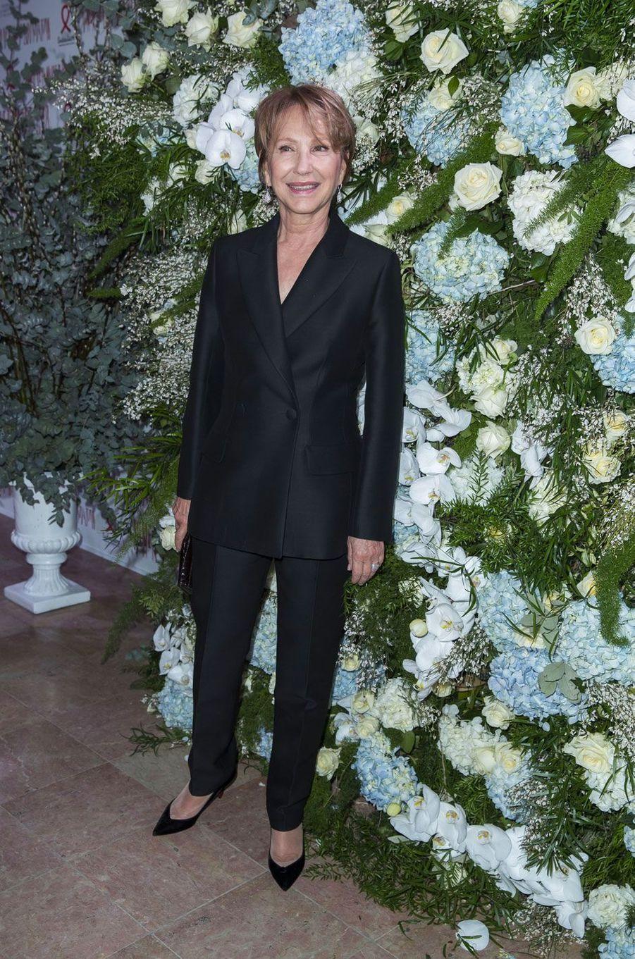Nathalie Baye au Dîner de la Mode pour le Sidaction, le 25 janvier 2018 à Paris