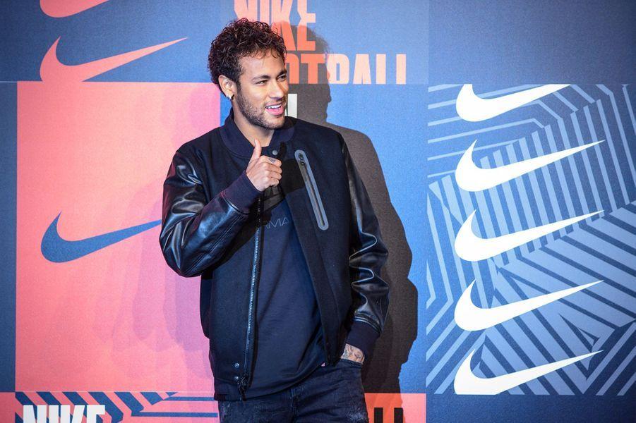 Neymar à la soirée Nike Football à Londres, le 7 février 2018.
