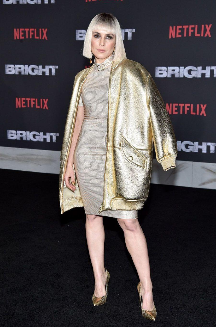 """Noomi Rapaceà l'avant-première de """"Bright"""", à Los Angeles le 13 décembre 2017."""