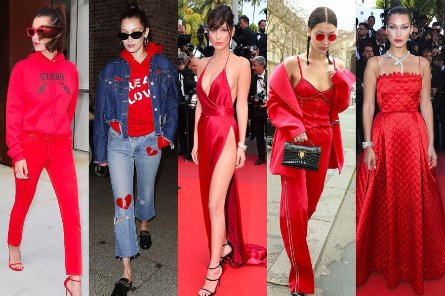 Toutes les nuances de rouge de Bella Hadid