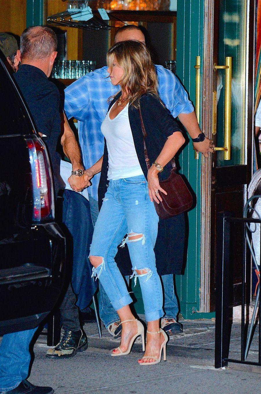 Jennifer Aniston en juillet 2017