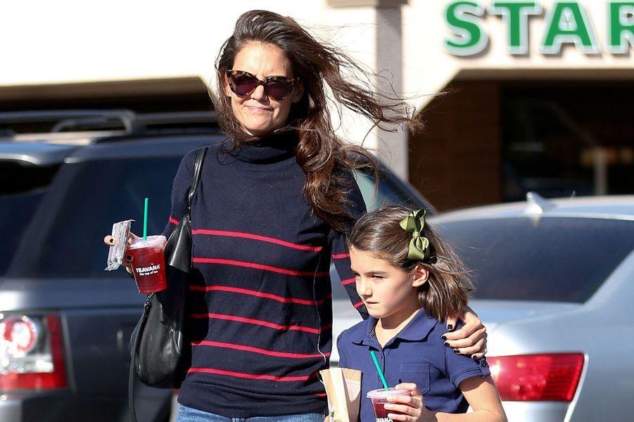 Katie Holmes et sa fille Suri (son père : Tom Cruise).