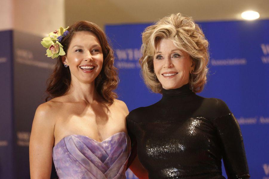 Ashley Judd et Jane Fonda au Dîner des Correspondants de la Maison Blanche