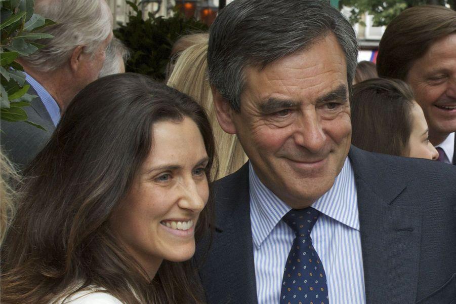 François Fillon et sa fille à Paris le 16 juin 2015