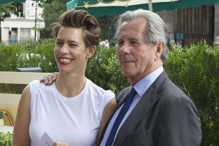 Jean-Louis Debré et sa fille à Paris le 16 juin 2015