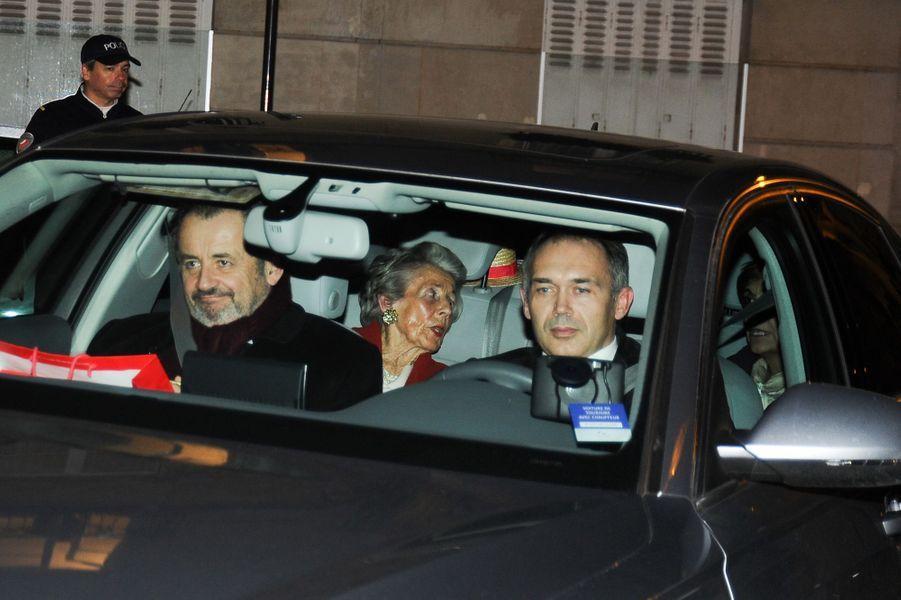 Guillaume et Andrée Sarkozy, à Paris le 30 janvier 2015