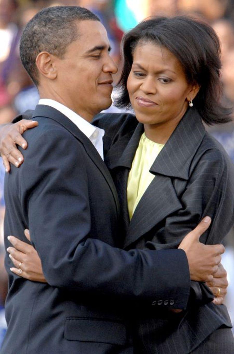En 2007 à Columbia en compagnie du futur président américain