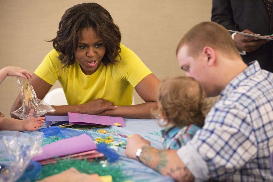 Michelle Obama, bonne fée des enfants malades