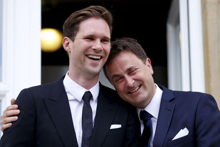 Xavier Bettel (à droite) et son époux, Gauthier Destenay