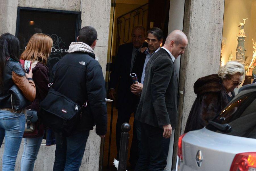 Jacques Chirac à Paris le 25 octobre 2014