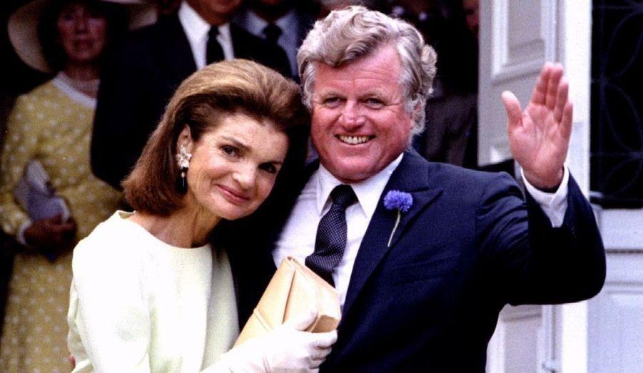 Avec son beau-frère, Edward Kennedy Senior
