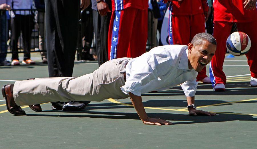 Le président des Etats-Unis a également démontré qu'il avait toujours la forme.