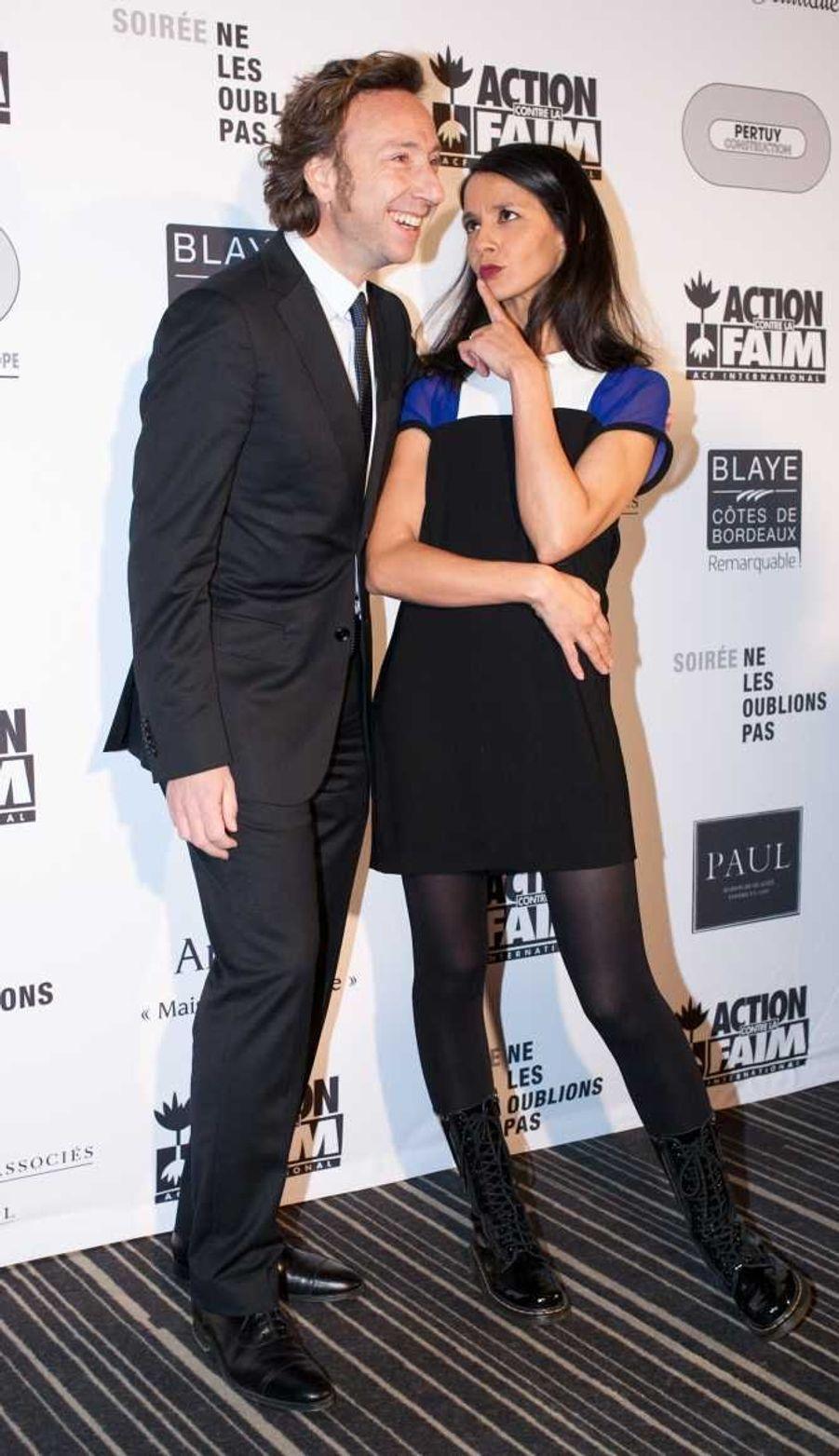 Stéphane Bern et l'humoriste Sophia Aram