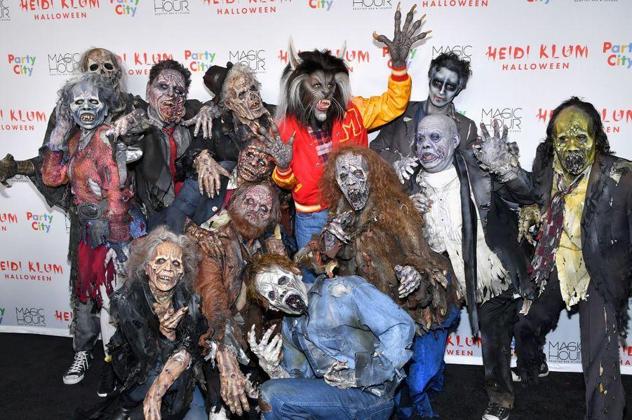 Heidi Klum à sa soirée d'Halloween, le 31 octobre 2017.