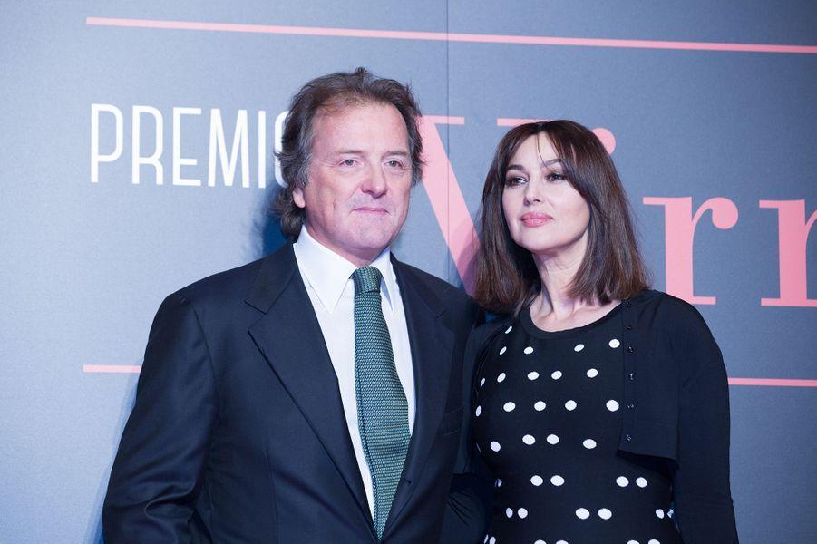Monica Bellucci et Corrado Pesci à Rome, le 7 novembre 2017.