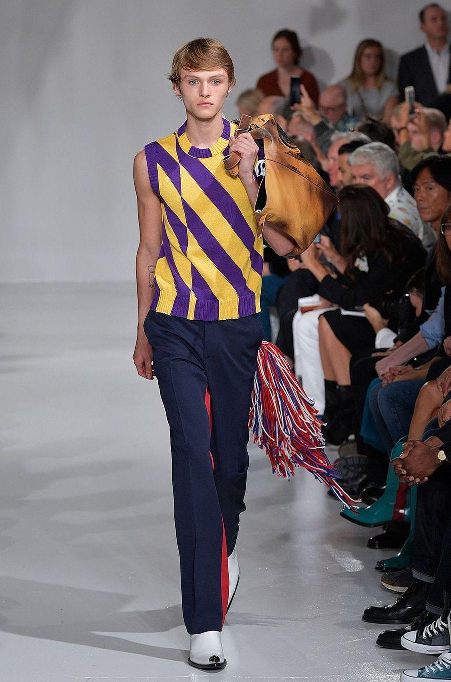 Mingus Reedus lors du défilé Calvin Klein de New York.