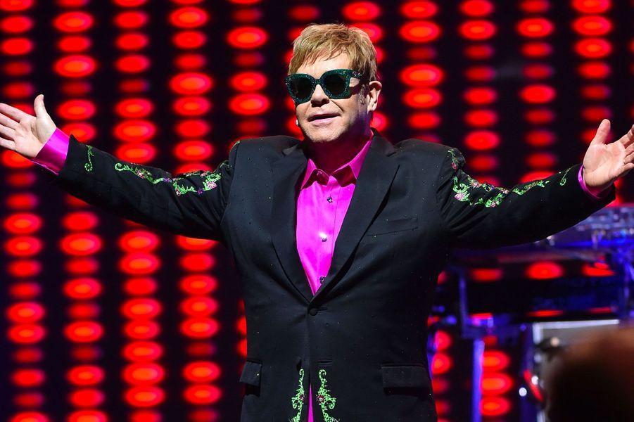 Elton John en concert au Grimaldi Forum à Monaco, le 6 décembre 2017