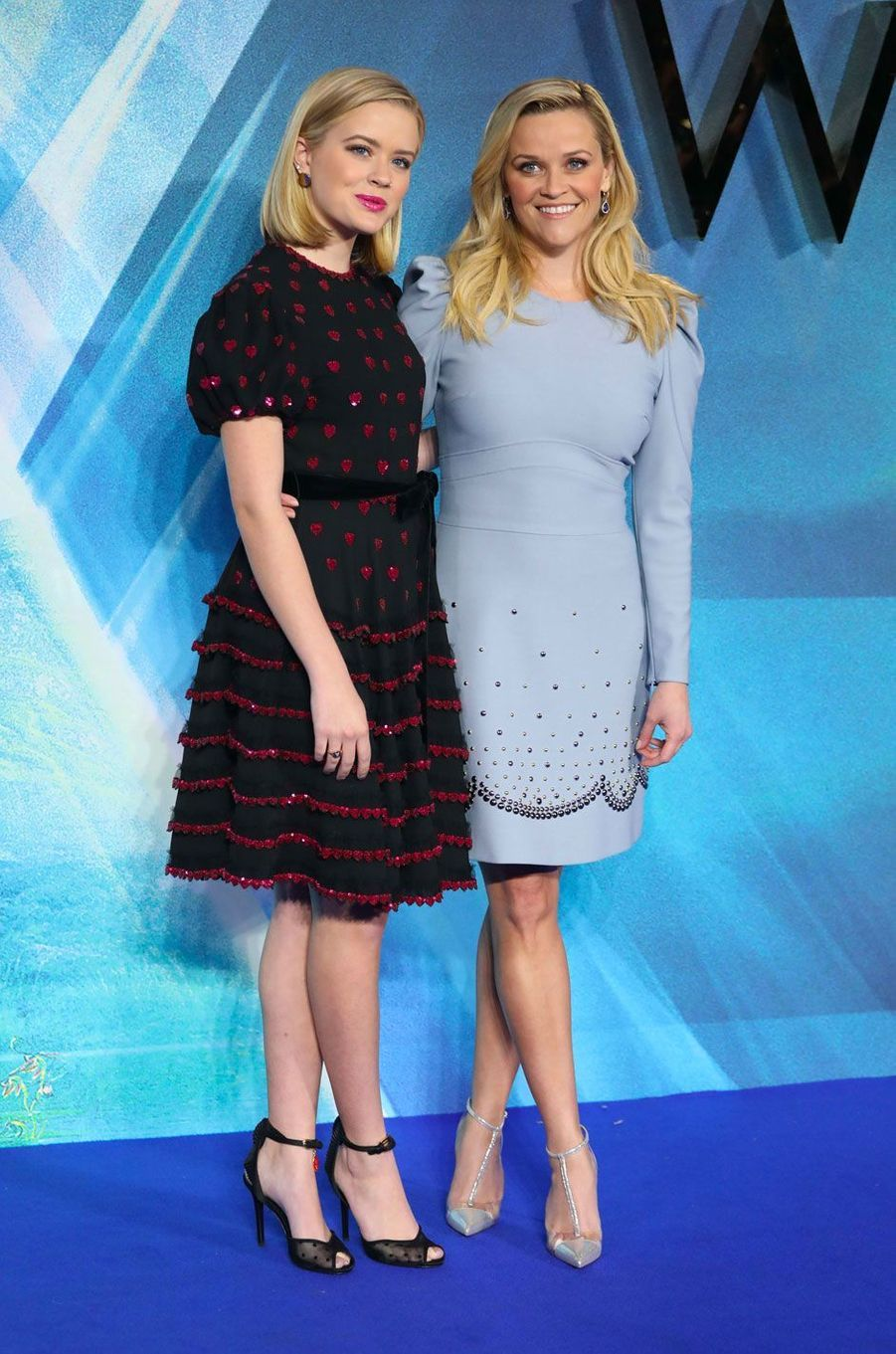 Reese Witherspoon et Ava Phillippe le 13 mars 2018 à Londres