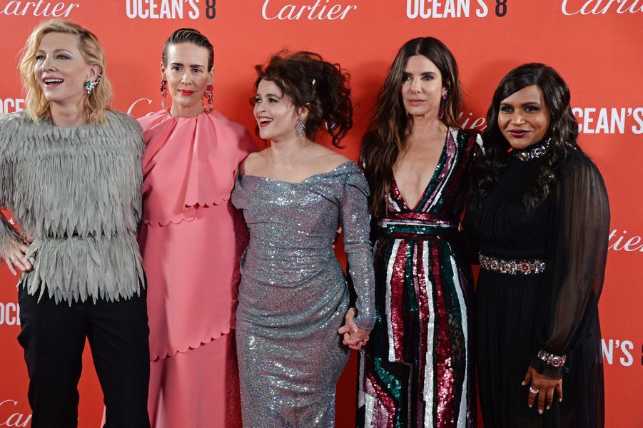 "Casting d'""Ocean's Eight"" à Londres, le 13 juin 2018."