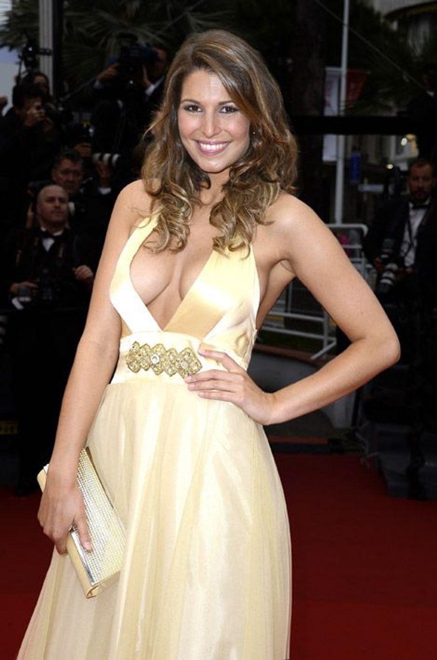 L'ancienne Miss France, Laury Thilleman lors du Festival de Cannes, le 16 mai 2013