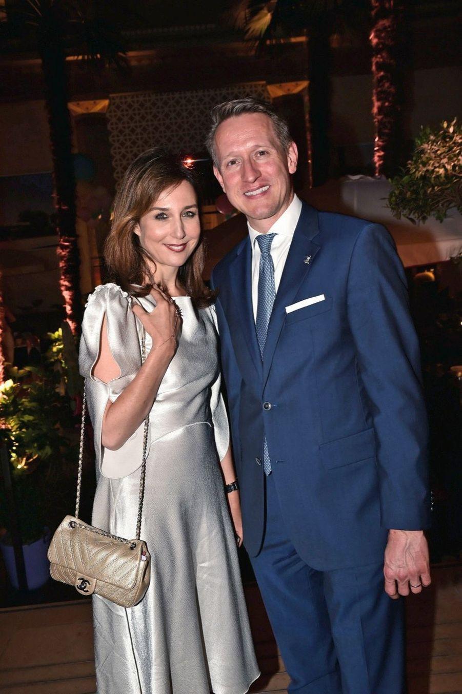 Elsa Zylberstein, Gerald Krischek, manager général du Prince de Galles.