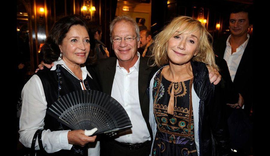 Bankables. Mère du baron Empain dans « Rapt », Françoise Fabian avec Bernard Murat et Marie-Anne Chazel, qui jouent « Goodbye Charlie » à la...