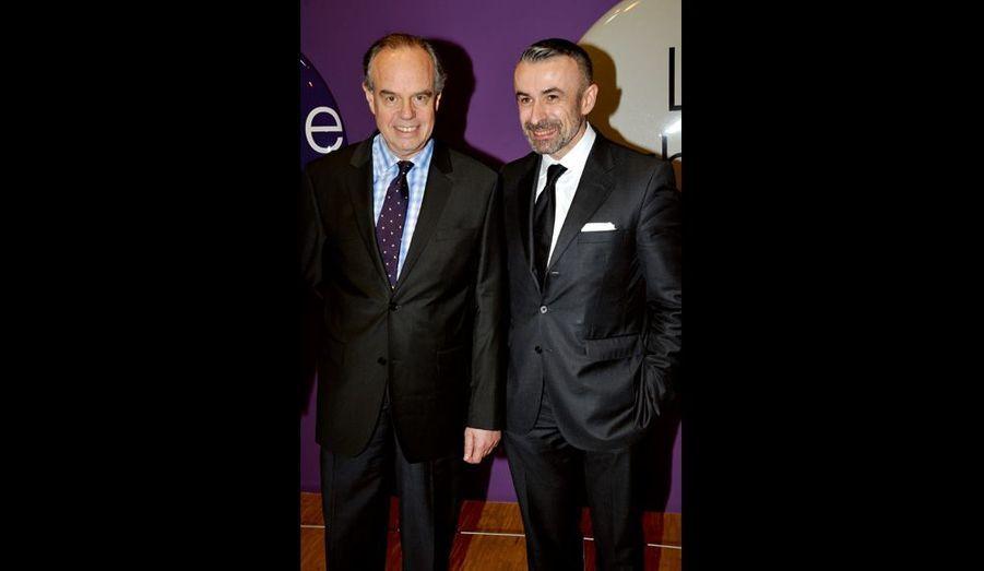Frédéric Mitterrand (qui a remercié les donateurs) et Alain Seban, président du Centre Pompidou.