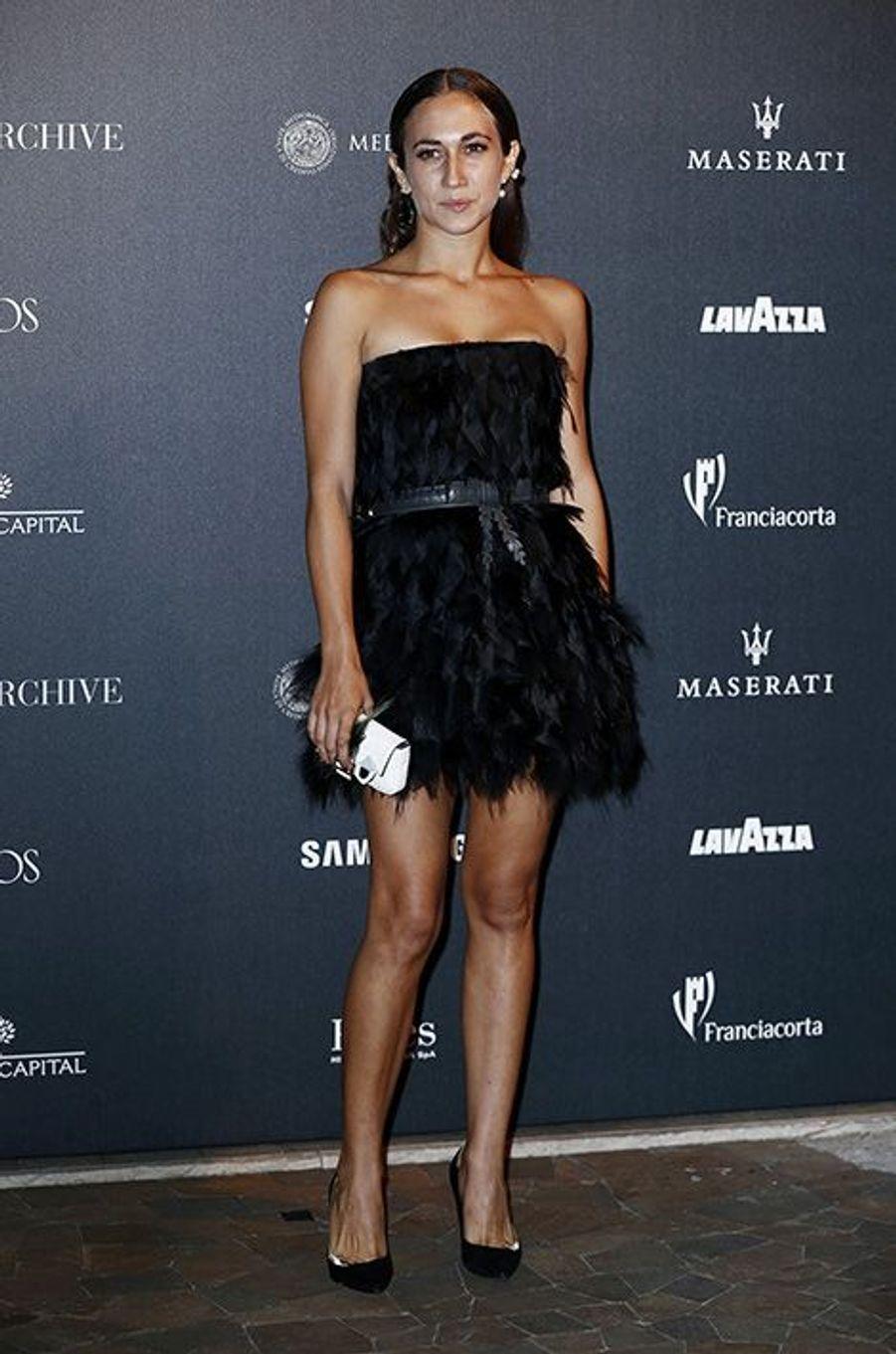 Delfina Fendi au 50ème anniversaire de Vogue Italie, le 21 septembre 2014