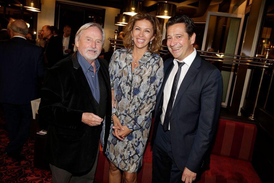 Claude Bouillon, Corinne Touzet et Laurent Gerra à la réouverture de la brasserie L'Alsace à Paris, le 27 octobre 2014