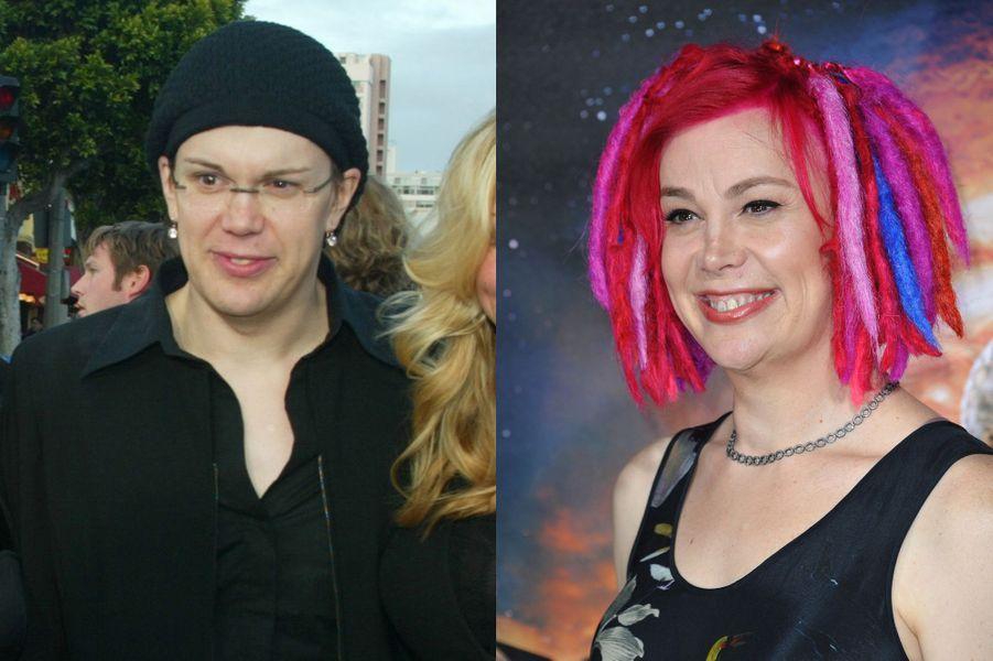 Lana Wachowski. À gauche en 1999 et à droite en 2015