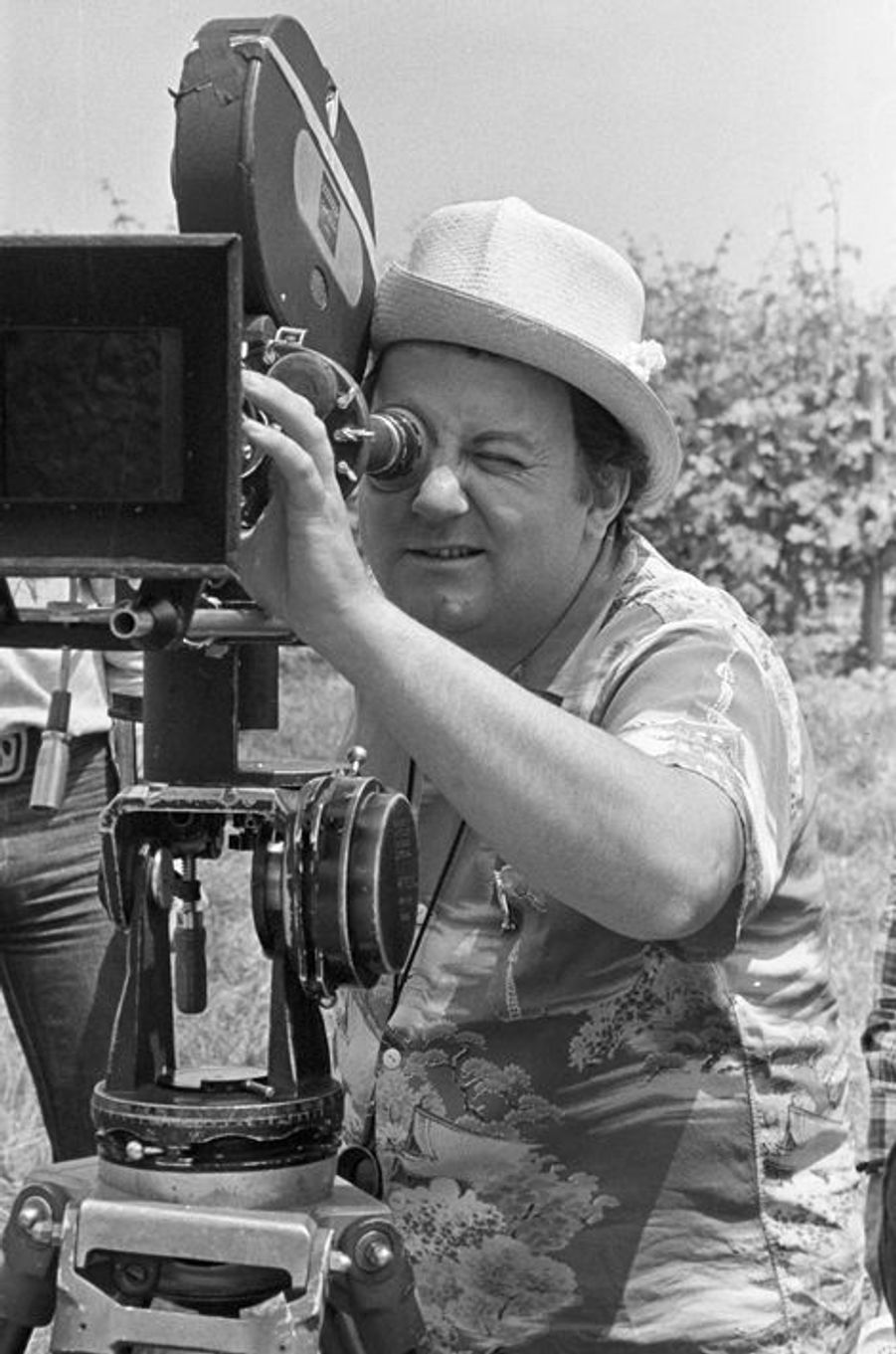 """En 1977 sur le tournage de son film """"Vous n'aurez pas l'Alsace et la Lorraine"""""""