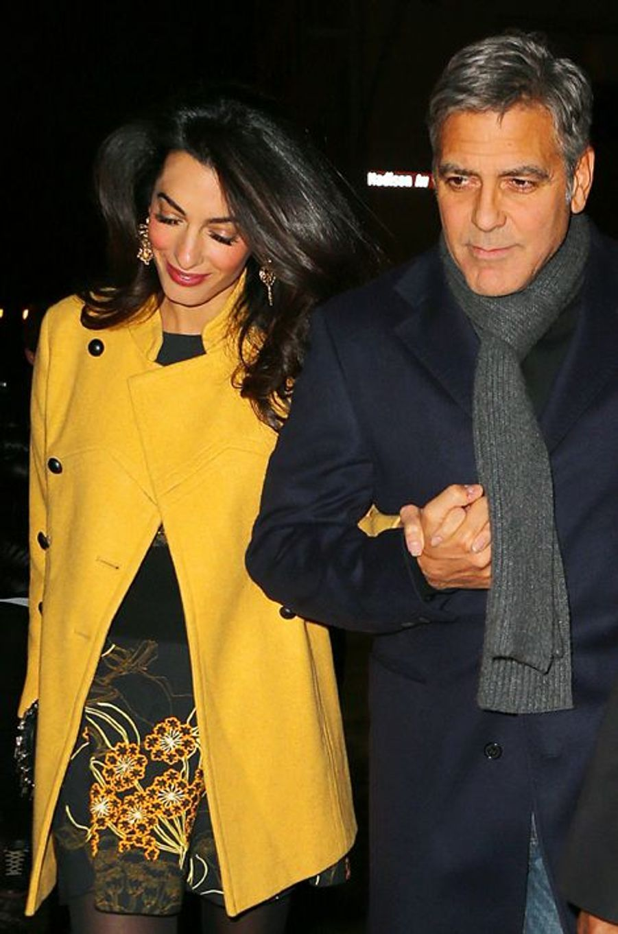 Amal et George Clooney à New York