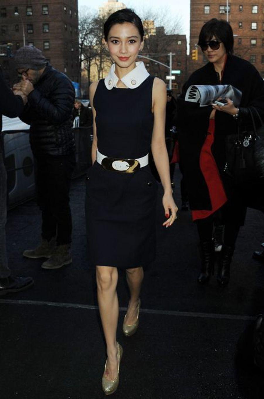 Angela Yeung à New York, le 13 février 2013