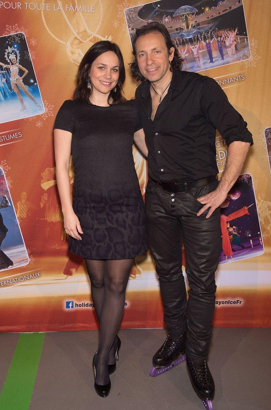 Nathalie Péchalat et Philippe Candeloro à Paris le 3 mars 2016