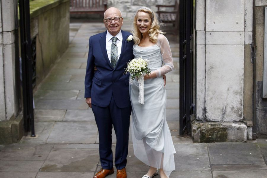 Rupert Murdoch et Jerry Hall