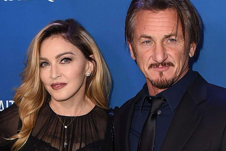 "Madonna et Sean Penn au gala ""Help Haïti"", le 9 janvier 2016"