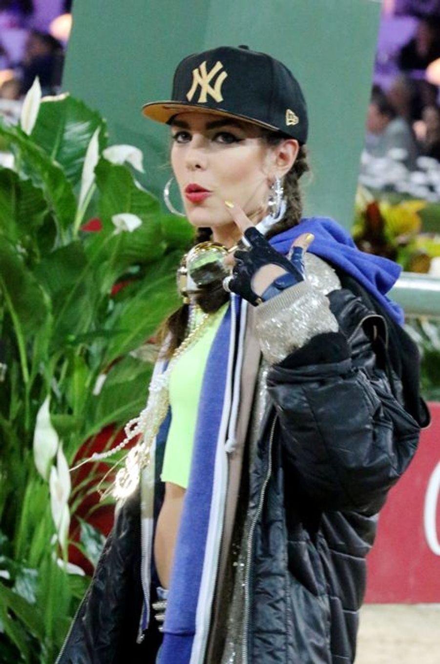 Charlotte Casiraghi déguisée pour le Gucci Paris Masters à Paris, le 6 décembre 2014