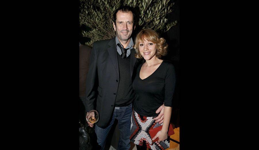 Christian Vadim, au théâtre dans «Le jeu de la vérité», et sa femme, Julia Livage.