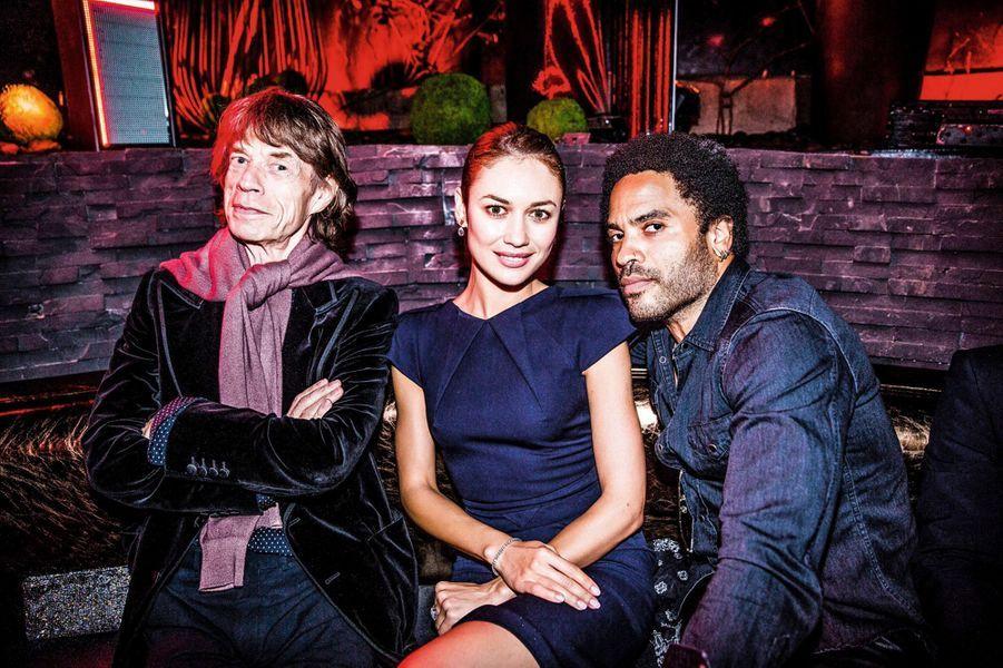 Mick Jagger, Olga Kurylenko, Lenny Kravitz.