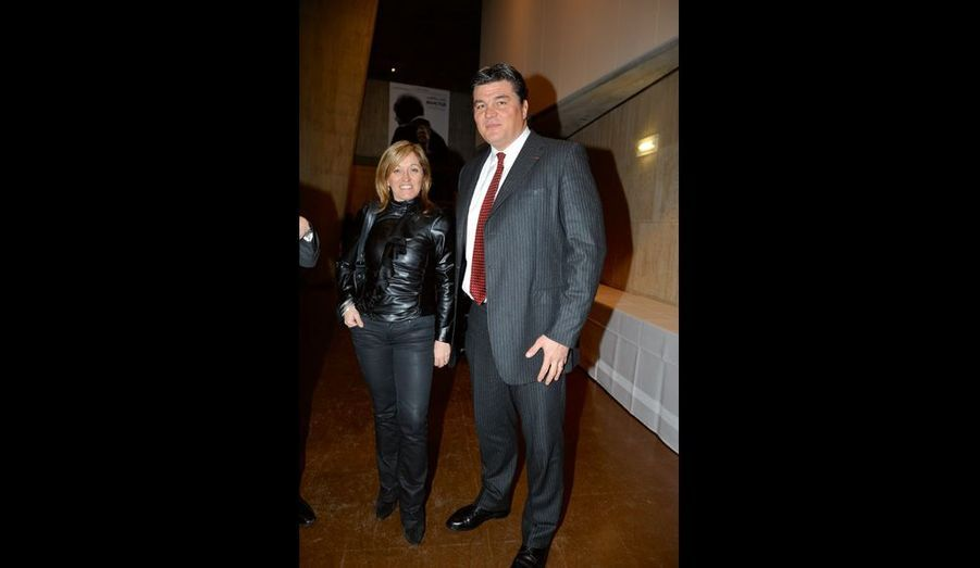 C'est David Douillet, venu avec sa femme, Valérie, qui a lu quelques mots de Clint Eastwood.