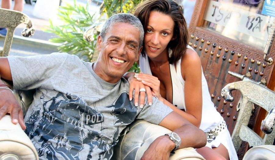 Samy Naceri et sa compagne Audrey.