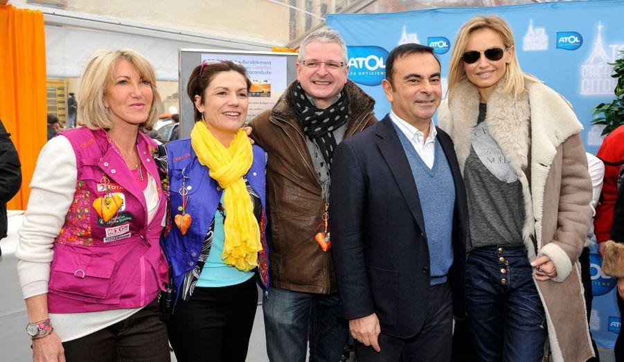 Carlos Ghosn, Chantal Jouanno, Adriana Karembeu et Dominique Serra